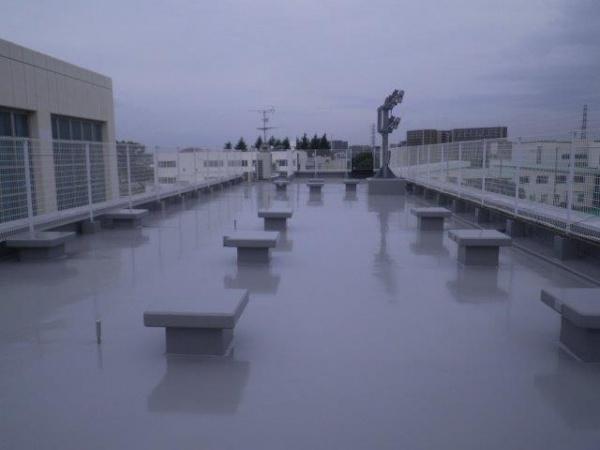 某大学の屋上ウレタン塗膜防水