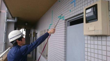 相模原市中央区で外壁改修の打診調査