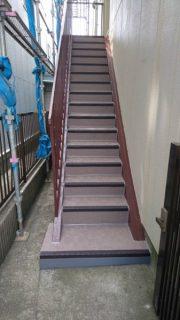 横浜市で鉄骨外階段改修工事