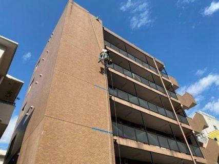 川崎市中原区でゴンドラ作業コーキング打ち替え工事